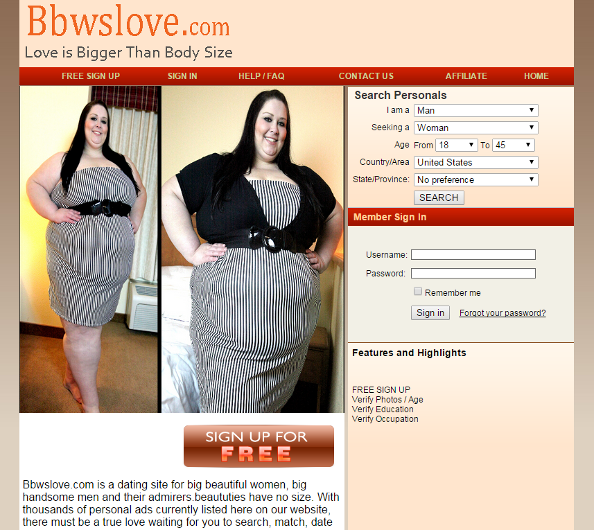 Bbw dating web site