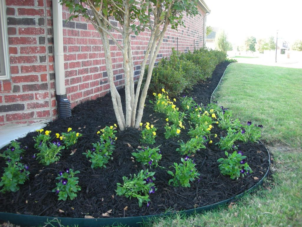 Side Yard Foundation Planting From Harbor Landscape In