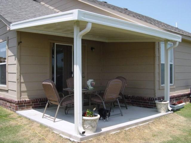 8 x 12 aluminum patio cover from builders of tulsa