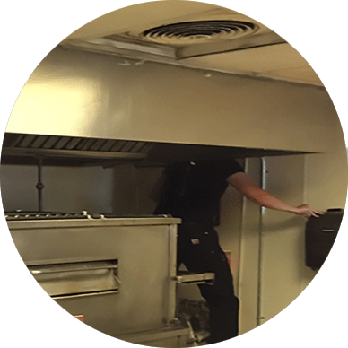 Exhaust Hood Cleaning Service For A Commercial Pizza Oven By Capital