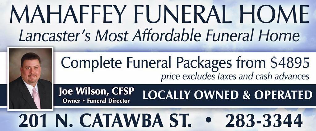 Mahaffey Funeral Home Lancaster Sc