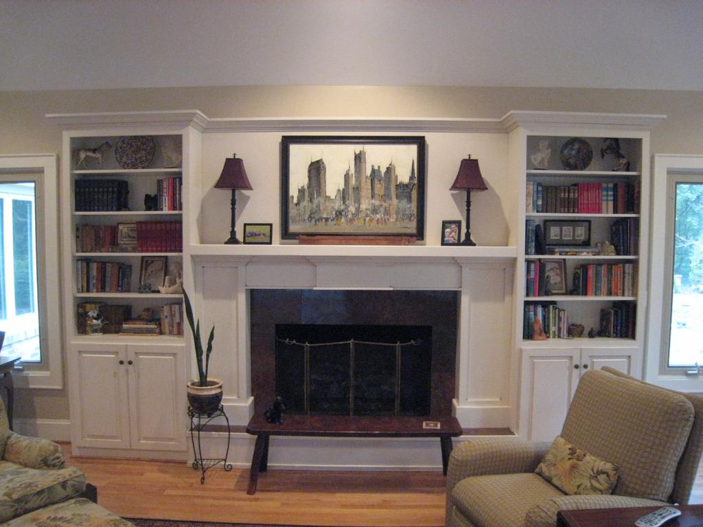 Fireplace wall after from jill helgeson interiors in anderson sc 29625 - Fire place walls ...