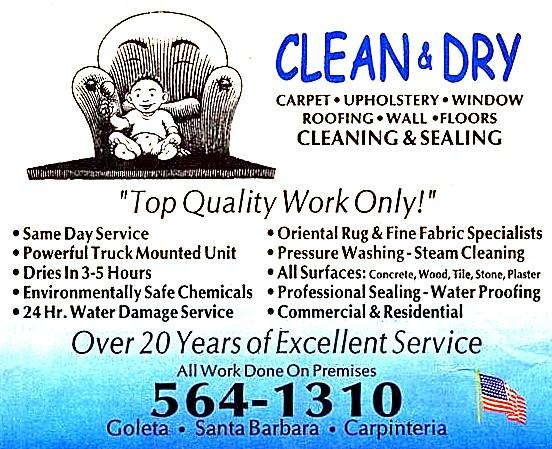 Clean amp Dry Carpet And Upholstery Cleaning Santa Barbara