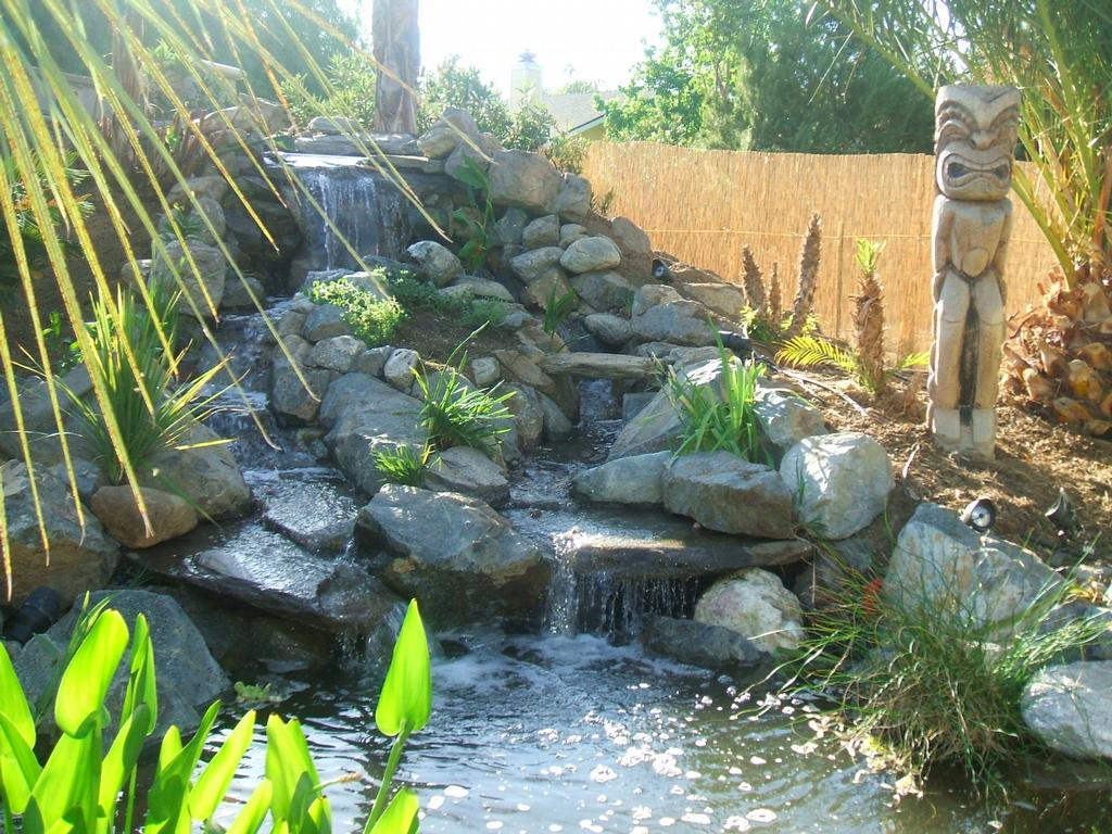 6ft high waterfalls from waterscape garden designs in