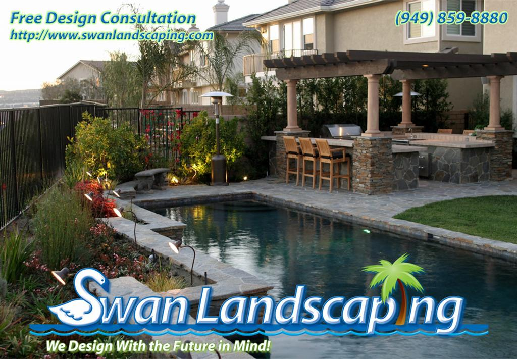 Landscaping A Pool Area : Swan landscaping gallery swimming pool landscapes