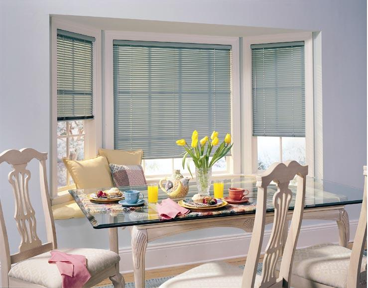 Mini Blind Pic Bay Window From Ambassador Industries In