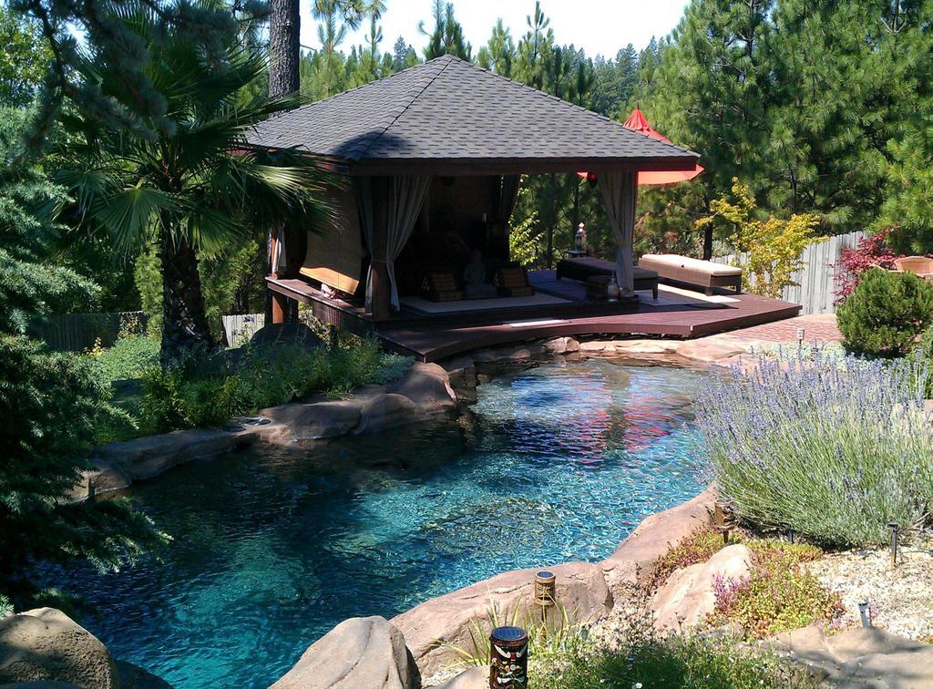 Hillside Pool With Gazebo Original From Natural Design