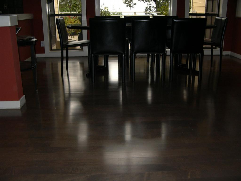 maple floor stain dark