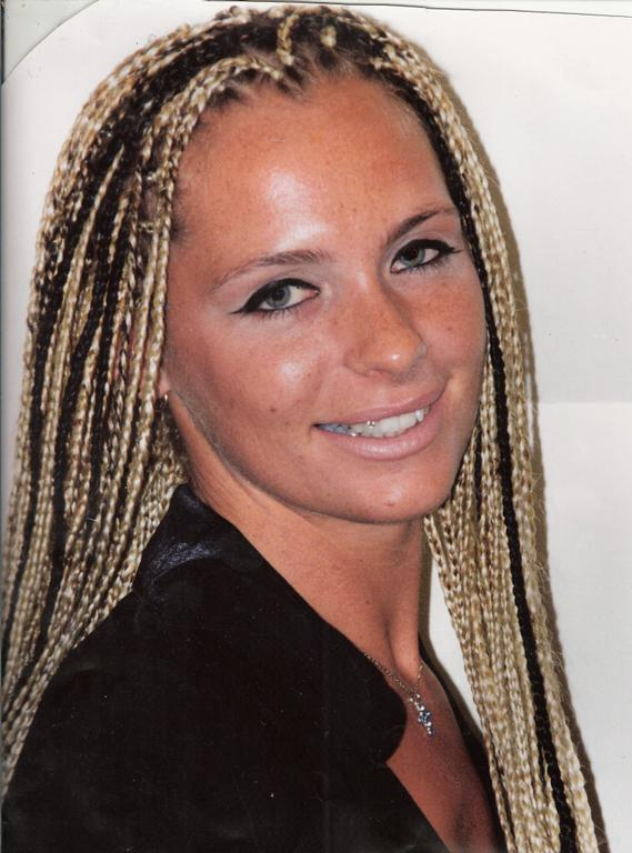 white girls with box braids