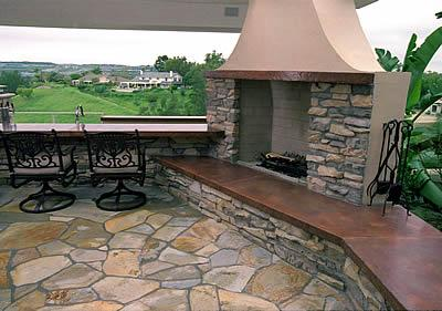 outdoor cement fireplace images