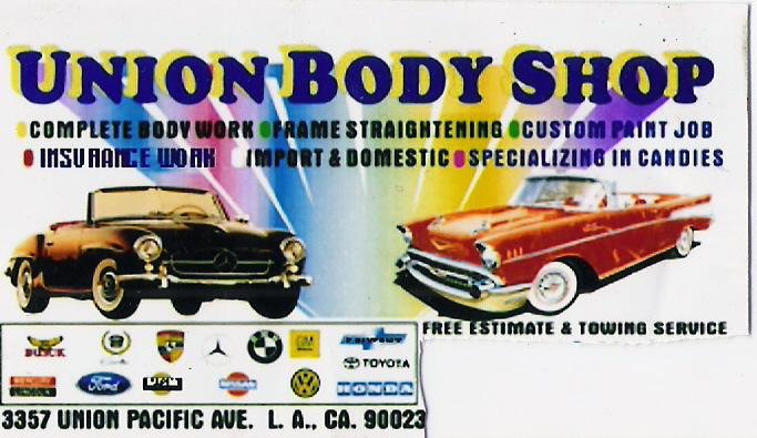Business card from union body shop in los angeles ca 90023 by union body shop reheart Image collections