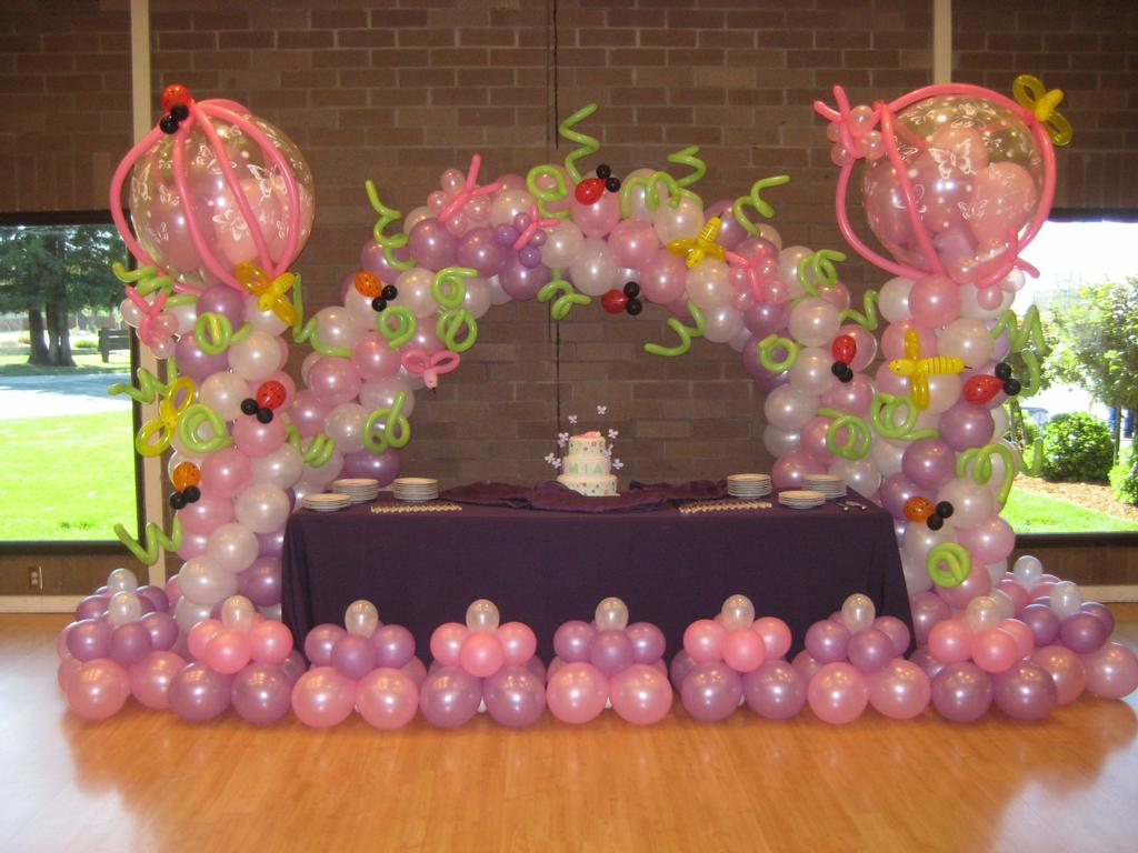 1st Birthday Party Balloon Decorations Image Inspiration of Cake