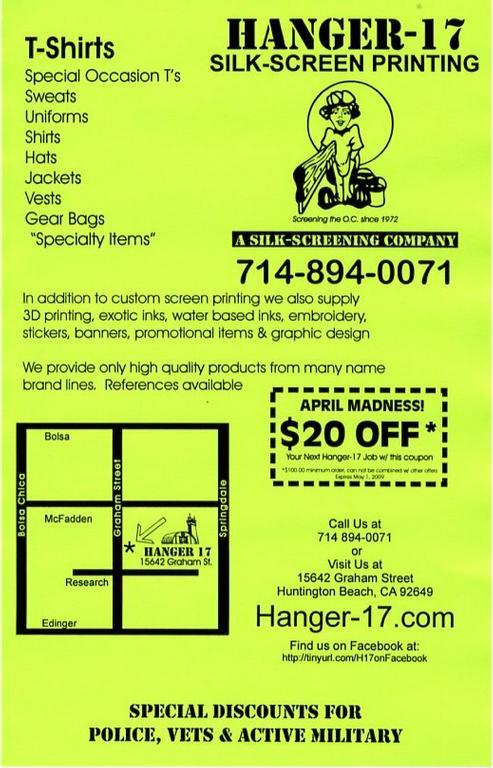 Hanger 17 screen printing chandler az 85225 480 632 0017 for T shirt printing chandler az