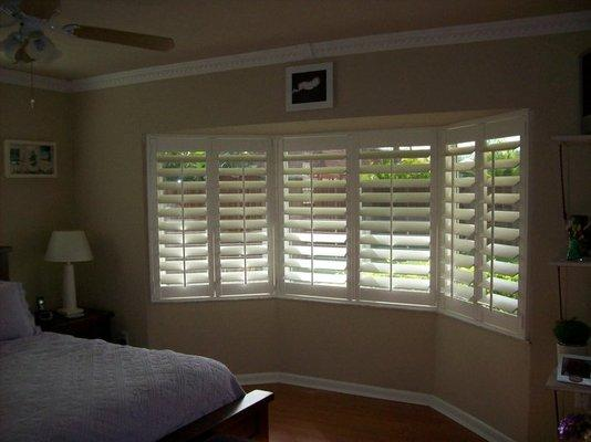 Bay Window Shutters from Blinds & More in Anaheim, CA 92806