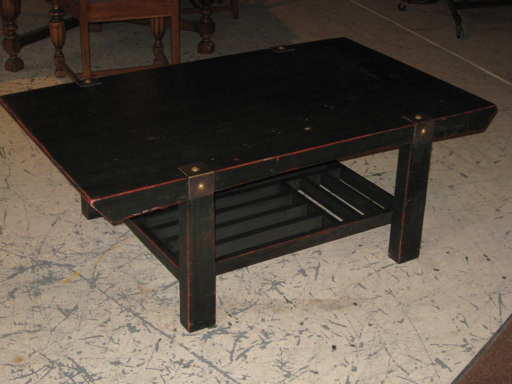 Solid Cherry Henredon Coffee Table Black Lacquer Finish Rivedi In Modesto Ca 95354