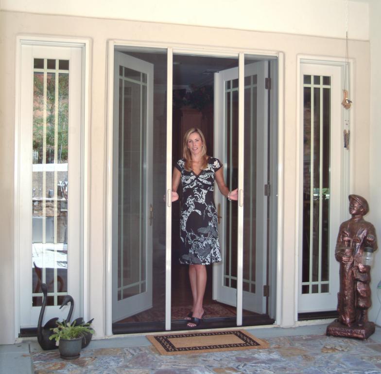 His clearview retractable screen doors san diego ca for Hidden sliding screen door