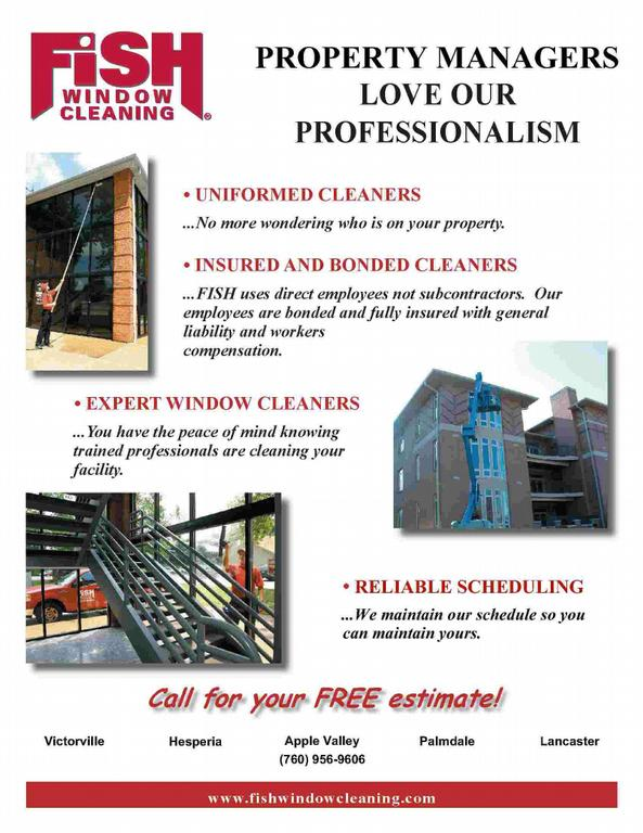 Fish Window Cleaning Victorville CA 92393 760 956 9606