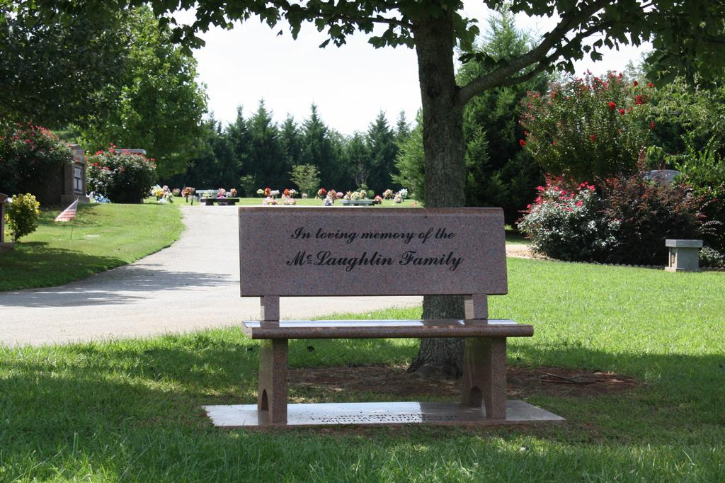 Granite Park Bench From Broadlawn Memorial Gardens In Buford Ga 30518