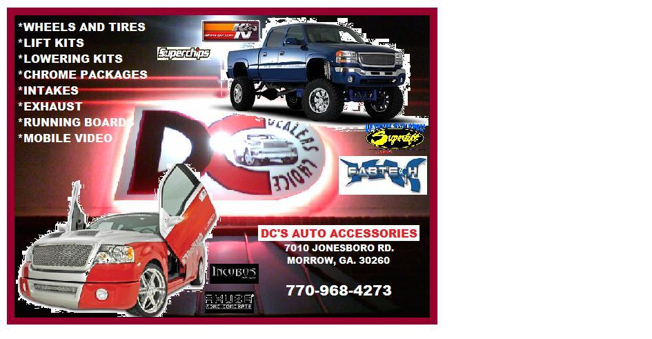 flyer from Dealers Choice Truck & Auto Accessories in Morrow, GA 30260