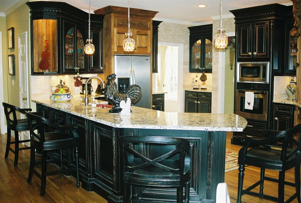 Distressed Black Kitchen From Artisan Design Group Of Atlanta In Alpharetta Ga 30004