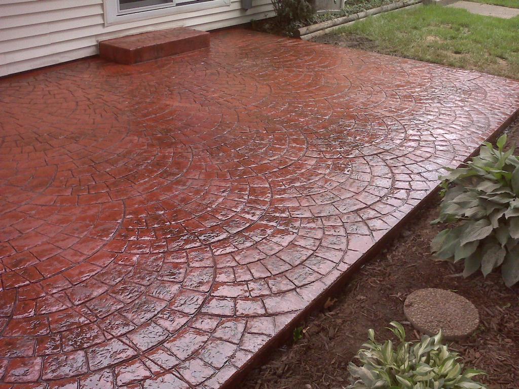 Stamped Concrete Pavement : Image pro s asphalt concrete maintenance inc roscoe