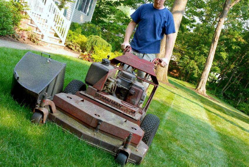 Pictures for sunset lawn service landscaping in for Lawn mowing and gardening services