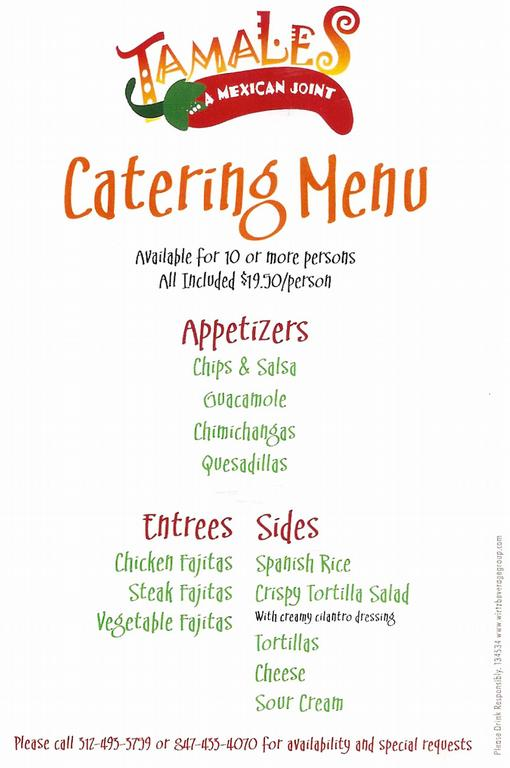 Catering in highland park il tamales mexican restaurant by tamales