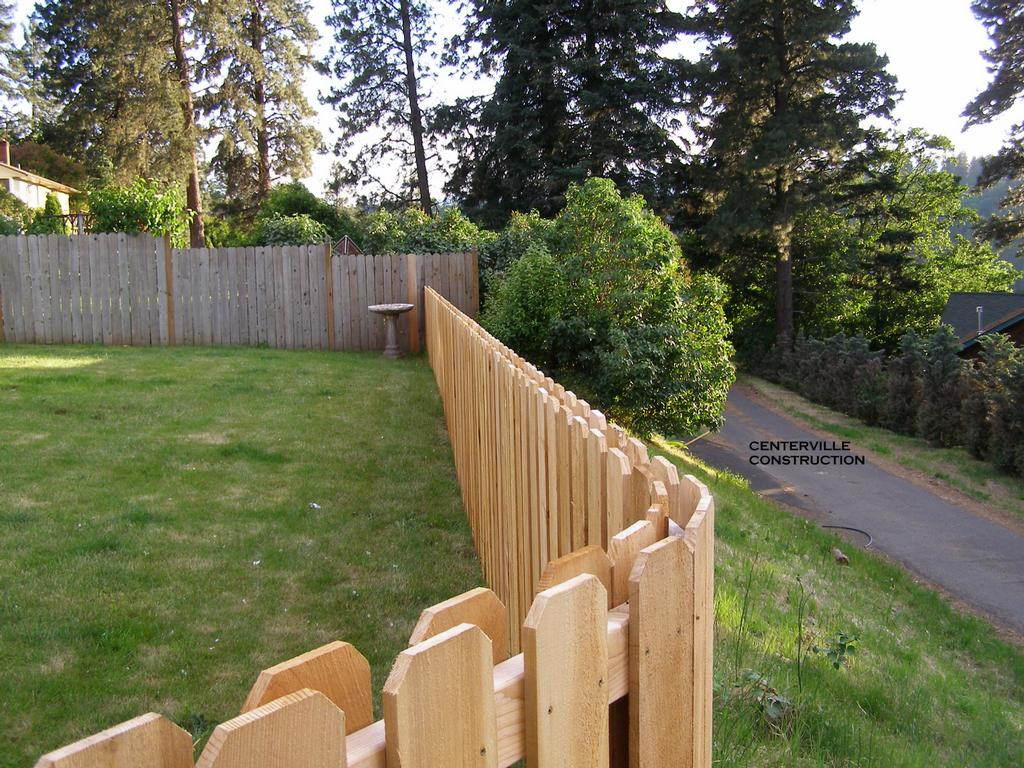 WOODEN FENCE BUILDING