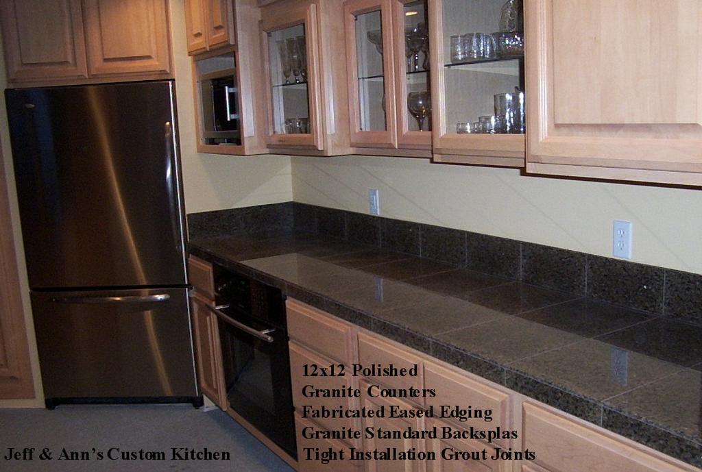 Polished Granite 12x12 Tiles From The Sandel Group Tile Stone Glass Installations In Duvall Wa