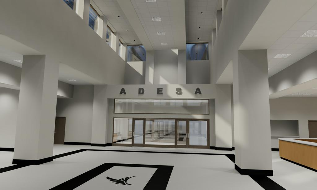 adesa auto auction las vegas interior lobby from architura architecture in indianapolis in 46204. Black Bedroom Furniture Sets. Home Design Ideas