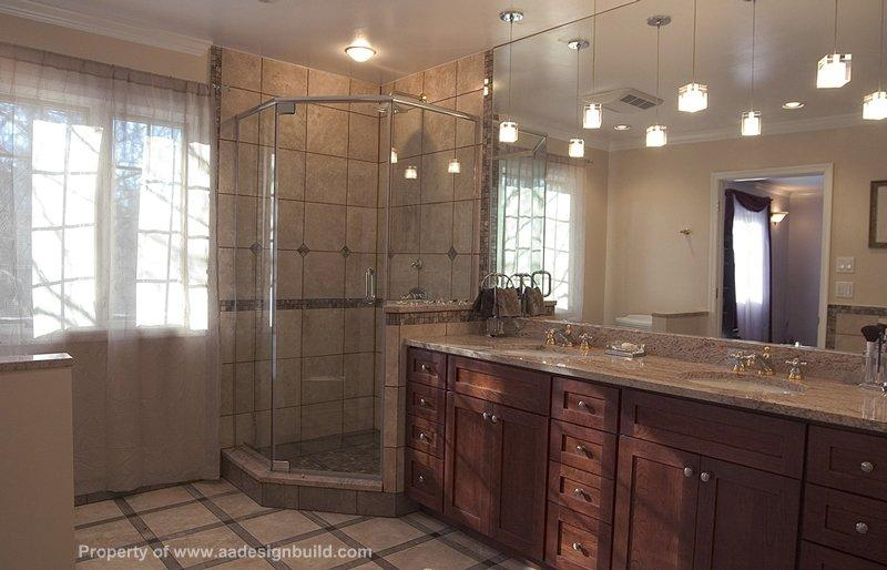 Pictures for a a design build remodeling in washington dc for Custom master bathroom designs