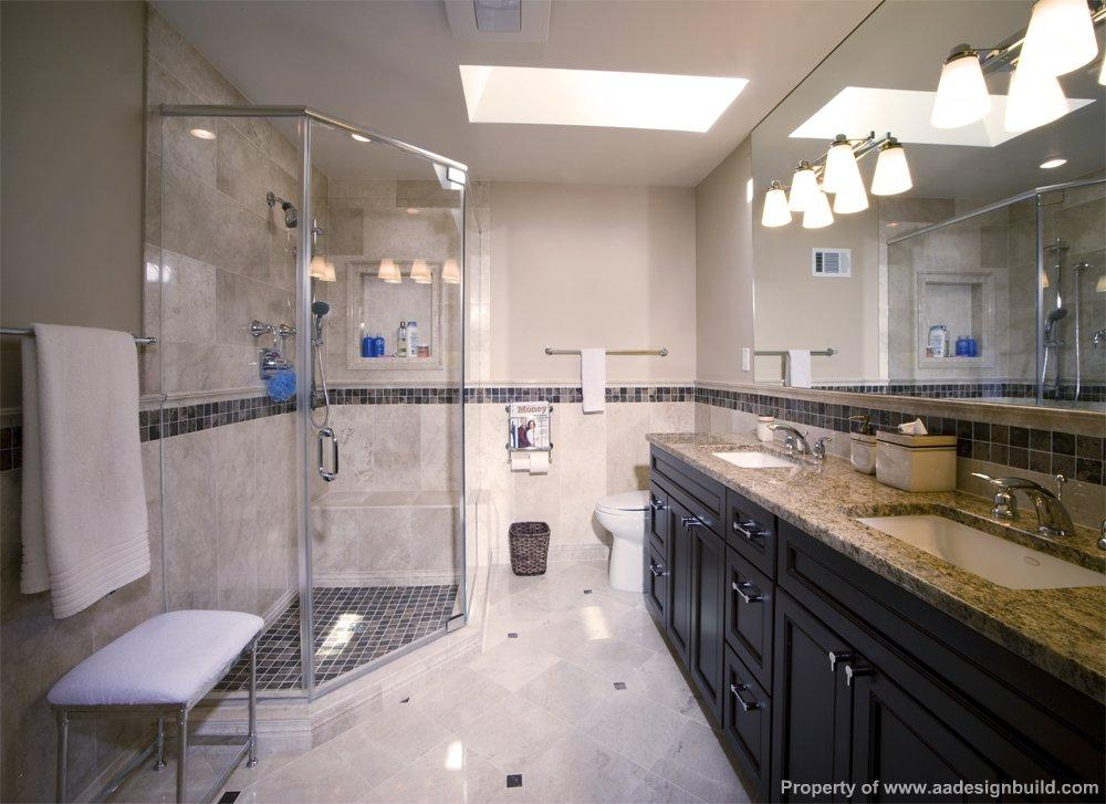 Master Bathroom Design and Remodeling, Marble and Granite Tile and