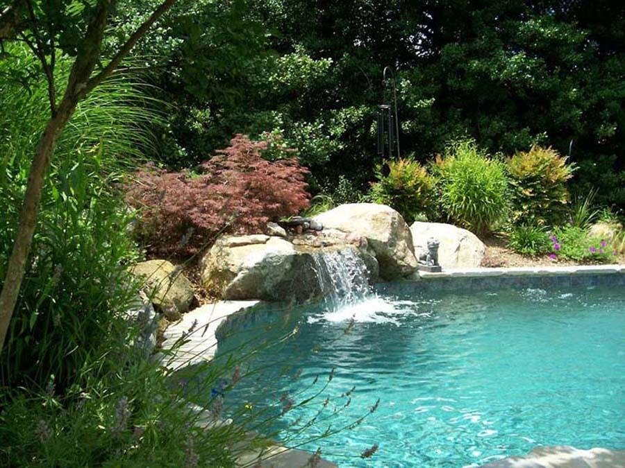 Custom natural swimming pools in annapolis md waterfalls - Natural swimming pool design ...