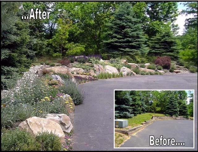 Green before green was cool new retaining wall concept for Rock wall garden ideas