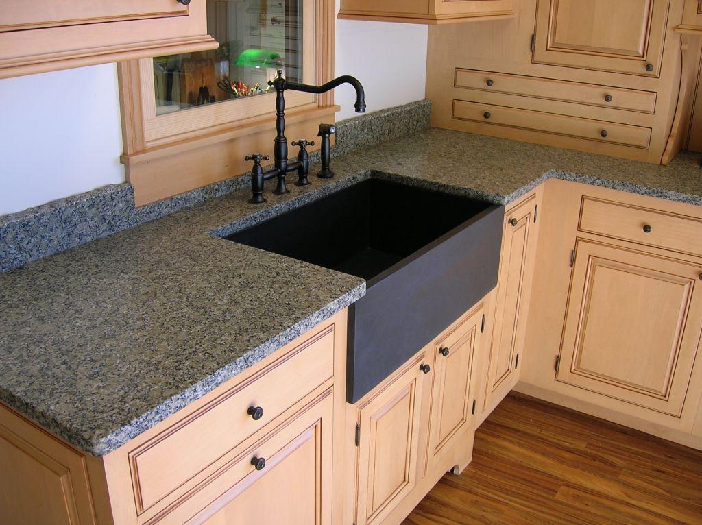 Pine Green & Black Slate sink by Qualey Granite & Quartz