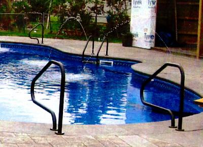 Pictures for holiday pool patio custom swimming pool for Custom made above ground pools