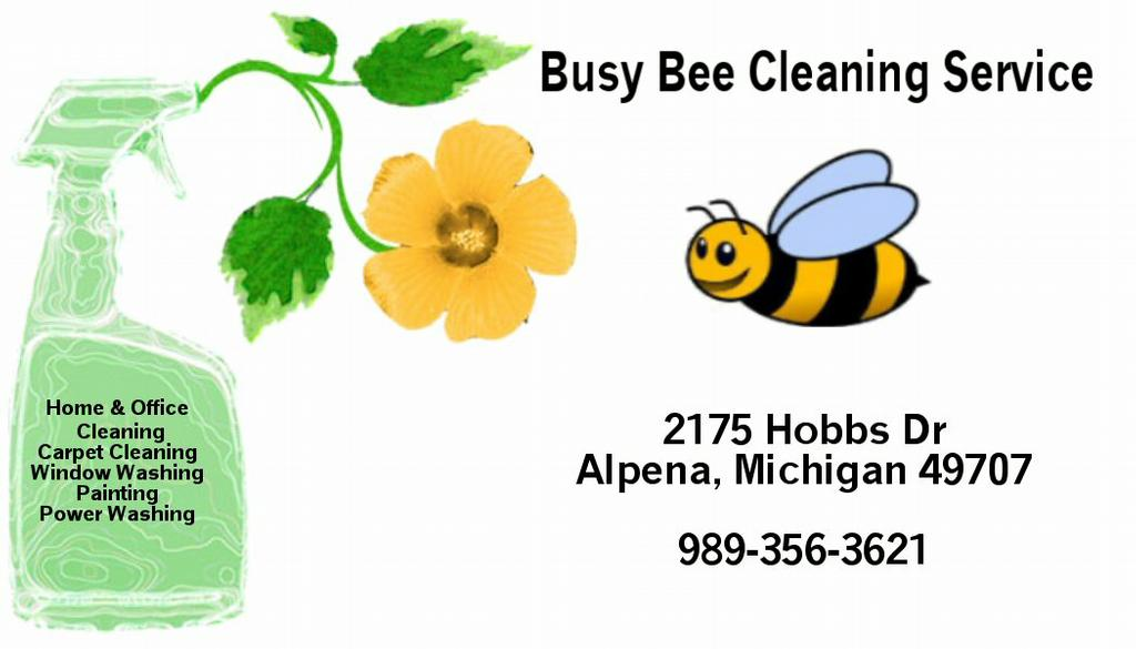 busy bee business card from Busy Bee Cleaning Service & PA in ...