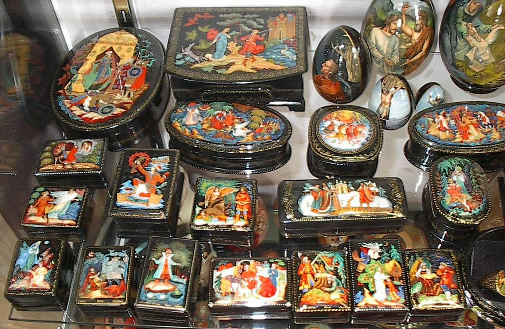 Russian Lacquer Boxes In All