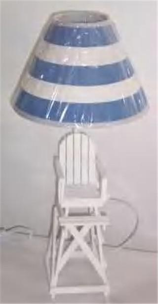lifeguard chair lamp from uncharted courses in saugatuck mi 49453. Black Bedroom Furniture Sets. Home Design Ideas