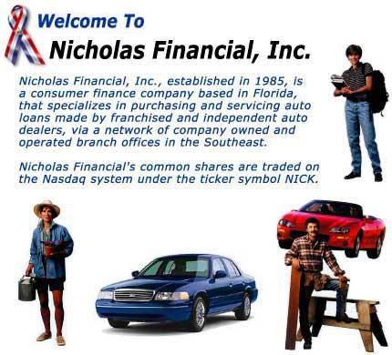 Nicholas Financial Inc - Wayne MI 48184 | 734-728-3390 | Financing