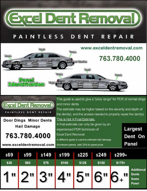 Excel Dent Removal Paintless Dent Repair Minneapolis Mn