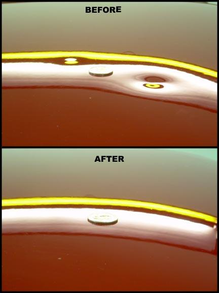 Hail Dents Before Amp After From Excel Dent Removal