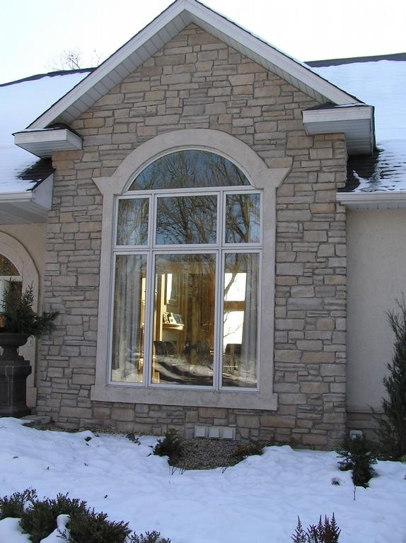 Decorative Stone Accent : Decorative stone with stucco accents from fine arts