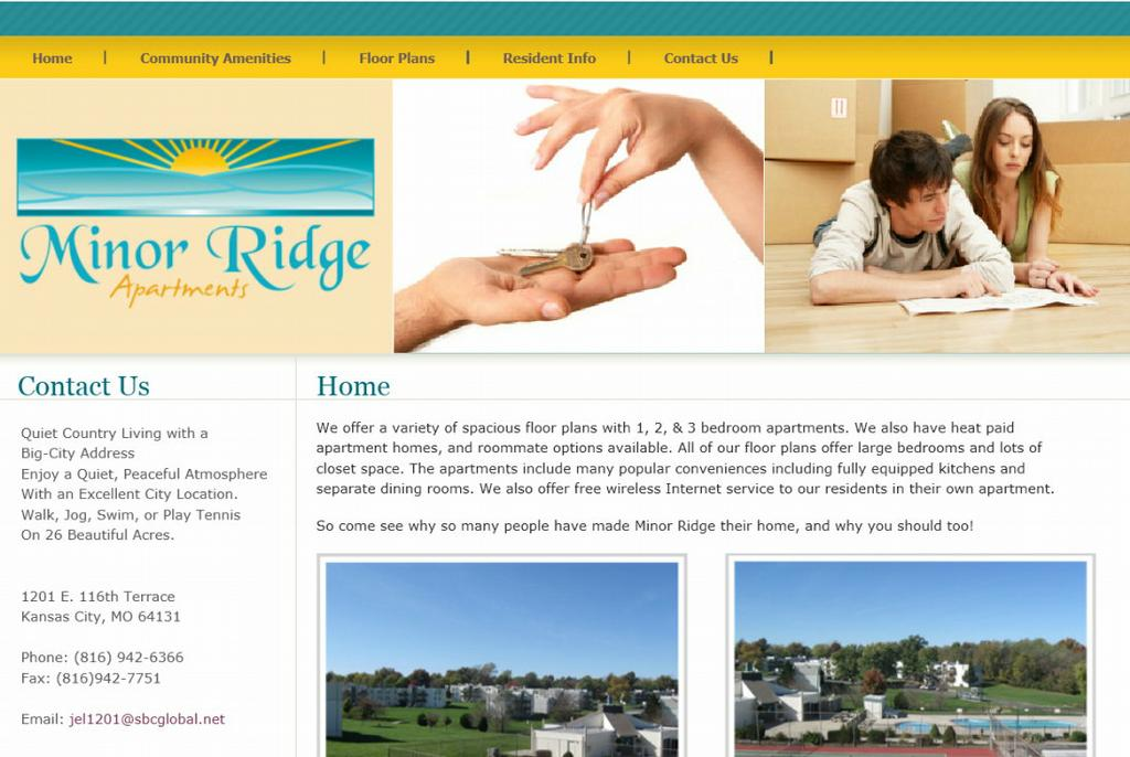 Minor Ridge Apartments Kansas City Mo 64131 816 942 6366