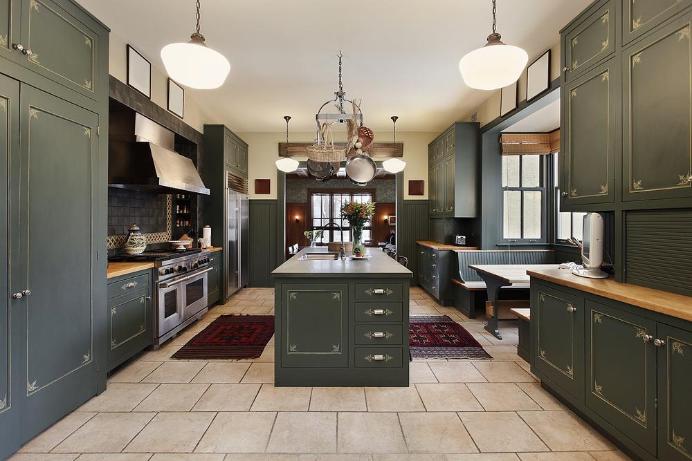 How to install tile around a kitchen island articles for Caulking around kitchen cabinets